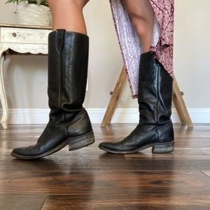 Vintage Western Leather Boots